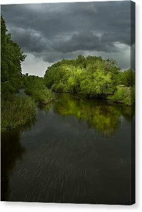 Storm Over The Poudre Canvas Print by Michael Van Beber