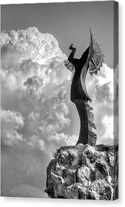 Storm Watcher Bw Canvas Print by JC Findley