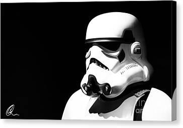 Stormtrooper Canvas Print by Chris Thomas