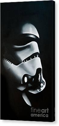 Stormtrooper Canvas Print by Clifton Llamas