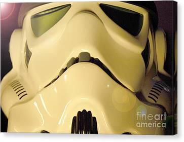 Stormtrooper Helmet 105 Canvas Print by Micah May