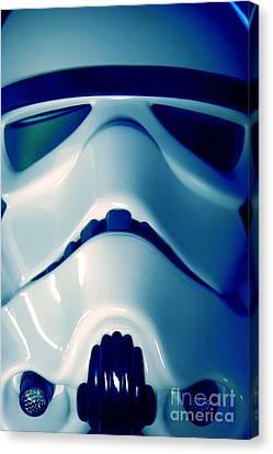 Stormtrooper Helmet 108 Canvas Print by Micah May