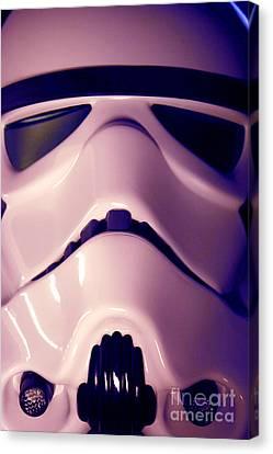 Stormtrooper Helmet 110 Canvas Print by Micah May