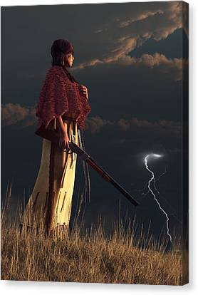 Stormwatcher Canvas Print by Daniel Eskridge