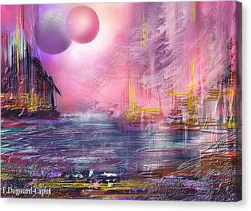 Stormway Canvas Print by Francoise Dugourd-Caput