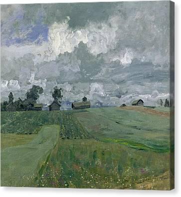 Stormy Day Canvas Print by Isaak Ilyich Levitan
