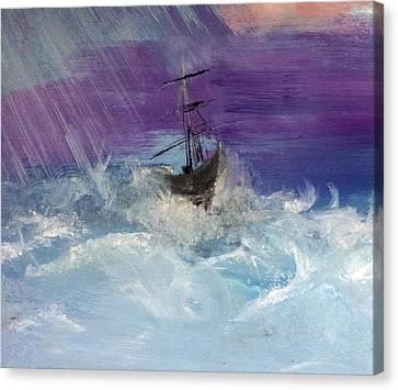 Stormy Seas Canvas Print by Lisa Kaiser