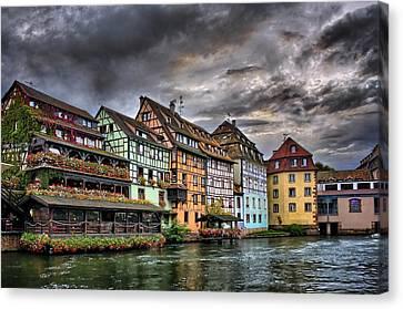 Stormy Skies In Strasbourg Canvas Print by Carol Japp