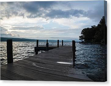 Stormy Sky Over Seneca Lake Canvas Print by Photographic Arts And Design Studio
