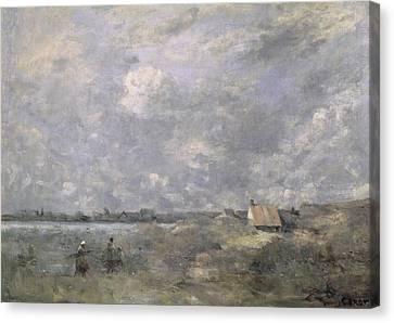 Stormy Weather, Pas De Calais Canvas Print by Jean Baptiste Camille Corot
