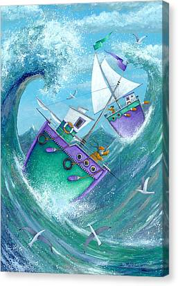 Stormy Weather Canvas Print by Peter Adderley