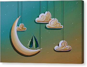 Stranded In The Evening Sky Canvas Print by Cindy Thornton