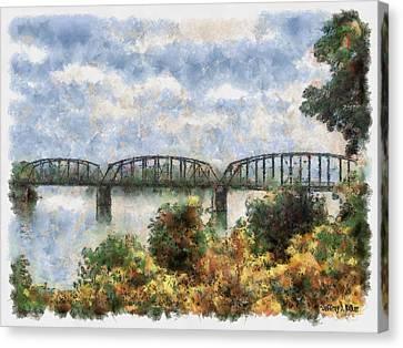 Strang Bridge Canvas Print by Jeff Kolker