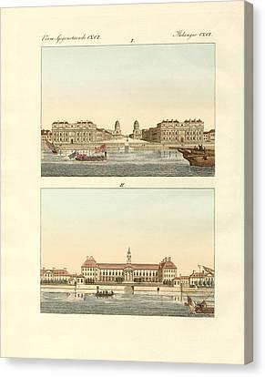 Strange Buildings In England Canvas Print by Splendid Art Prints