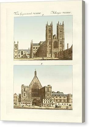 Strange Buildings In London Canvas Print by Splendid Art Prints