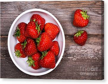 Strawberries Canvas Print by Jane Rix