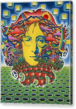 Strawberry Fields For Lennon Canvas Print by Jeff Hopp
