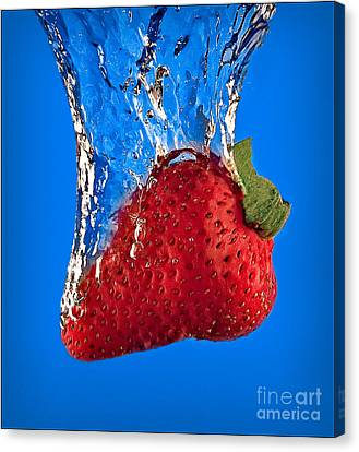 Strawberry Slam Dunk Canvas Print by Susan Candelario