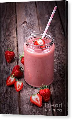 Strawberry Smoothie Canvas Print by Jane Rix