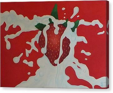 Strawberry Canvas Print by Sven Fischer