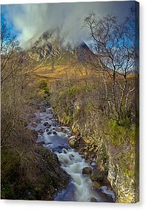 Stream Below Buachaille Etive Mor Canvas Print by Gary Eason