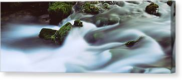 Stream Flowing Through Rocks, Alley Canvas Print by Panoramic Images