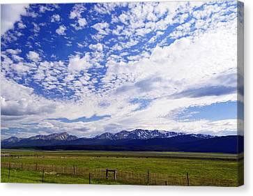 Streaming Sky Canvas Print by Jeremy Rhoades
