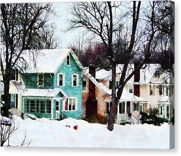 Street After Snow Canvas Print by Susan Savad