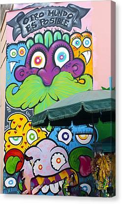 Street Art Lima Peru 2 Canvas Print by Kurt Van Wagner