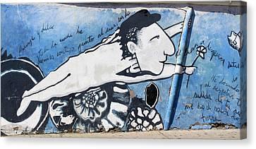 Street Art Santiago Chile Canvas Print by Kurt Van Wagner
