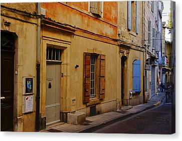 Street In Arles France Dsc01780  Canvas Print by Greg Kluempers