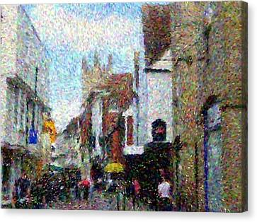 Street In Canterbury Canvas Print by Grace Renshaw