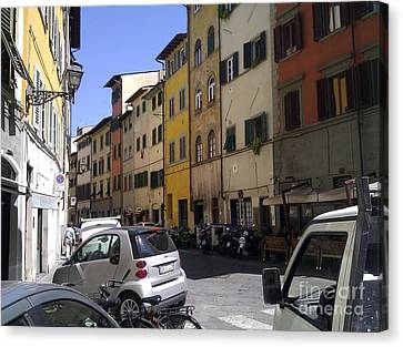 Street In Florence Canvas Print by Ted Williams