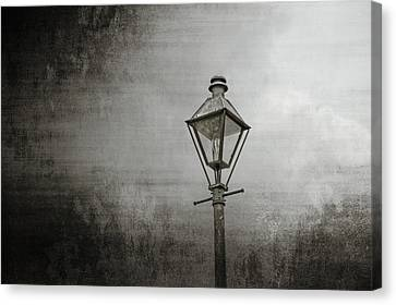 Street Lamp On The River Canvas Print by Brenda Bryant