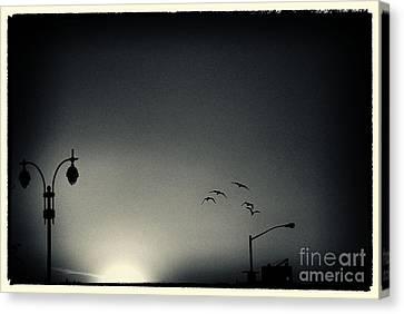 Street Lights Battery Park New York City Canvas Print by Sabine Jacobs