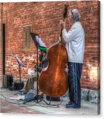 Street Musicians - Great Barrington - No. 2 Canvas Print by Geoffrey Coelho