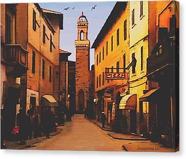 Street Scene Canvas Print by SophiaArt Gallery