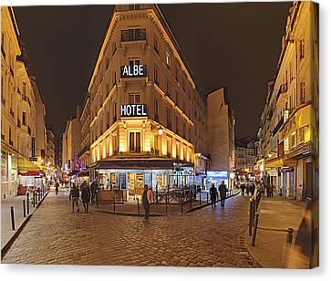 Street Scenes - Paris France - 011328 Canvas Print by DC Photographer