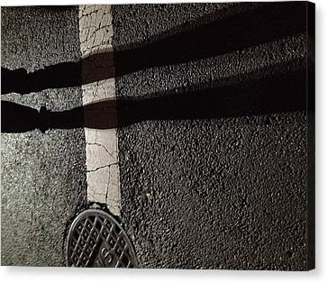 Street Shadow Canvas Print by H James Hoff