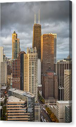 Streeterville From Above Canvas Print by Adam Romanowicz