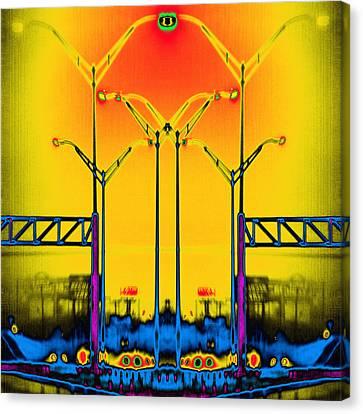 Streetlight Serenade 4 Canvas Print by Wendy J St Christopher