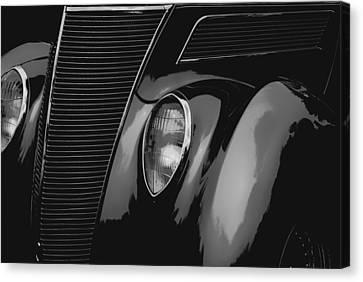 Streetrod 1937 Ford Canvas Print by Jack Zulli