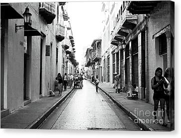 Streets Of Cartagena I Canvas Print by John Rizzuto