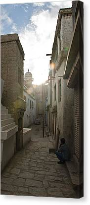Streets Of Leh Canvas Print by Aaron S Bedell