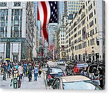 Streets Of Manhattan 2 Canvas Print by Mario Perez