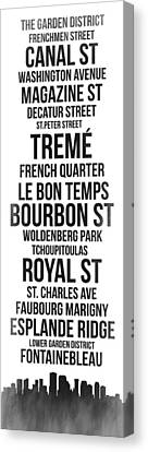 Streets Of New Orleans 3 Canvas Print by Naxart Studio