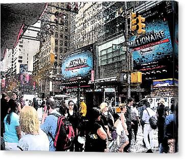 Streets Of New York City 3 Canvas Print by Mario Perez