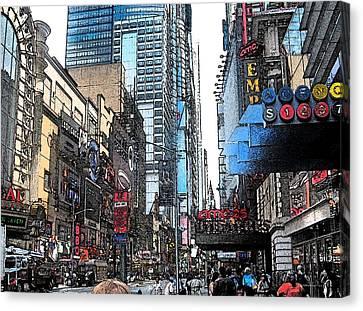 Streets Of New York City 6 Canvas Print by Mario Perez