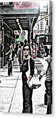 Streets Of Nyc 19 Canvas Print by Mario Perez