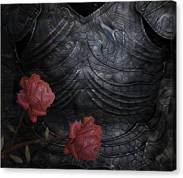 Strength Of A Rose Canvas Print by Jack Zulli